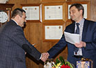 Deputy General Director on program management of OJSC «Il» Sergey Artyukhov was awarded a honorary degree «Honorary aviation worker»
