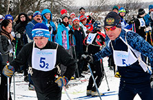"On the basis of camp ""Friendship"" of «IL» ski competition held «ILYUSHIN trails»"