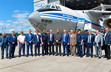 OJSC «IL» management participated in solemn ceremony of heavy military-transport IL-76MD-90A aircraft rolling out, built for the RF Ministry of Defense
