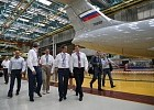 "Deputy Minister of Industry and Trade of the Russian Federation Yury Slyusar and representatives of JSC UAC visit the production of Il-76MD-90A at CJSC ""Aviastar-SP"""