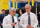 "The head of JSC ""United Aircraft Corporation"" M. Pogosyan visits SJSC ""Aviastar-SP"" that produces the Il-76MD-90A"