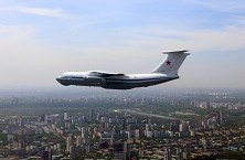Ilyushin aircraft participate in the flyover of the Victory Parade on May 9, 2015