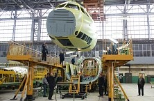 First Il-112V aircraft fuselage assembly