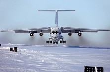 IL-76 aircraft in the Arctic and Antarctica