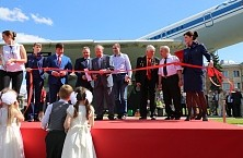 Unveiling ceremony of the Il-62M monument in Sheremetyevo International Airport